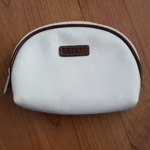 Vintage Rosetti white & brown leather change purse